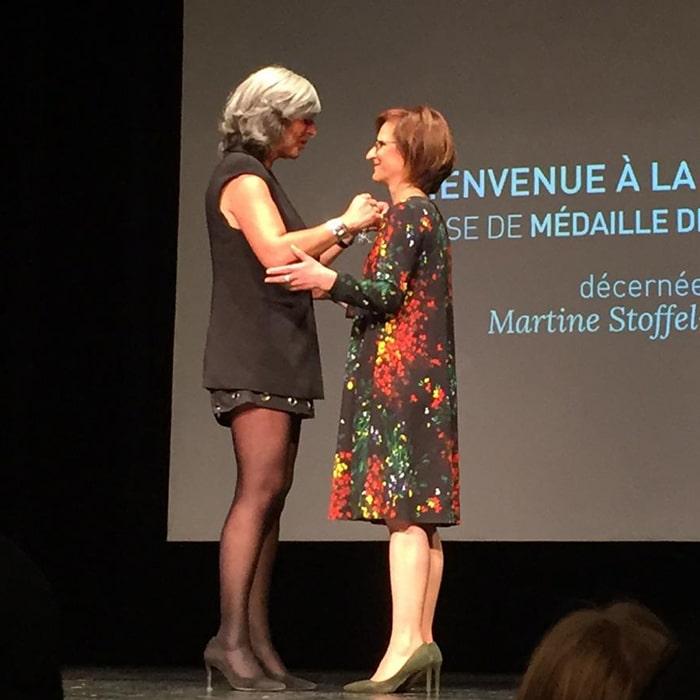 Remise de médaille de l'ordre du mérite décernée à Martine STOFFEL-CASTEROT- Vendredi 16 septembre 2016